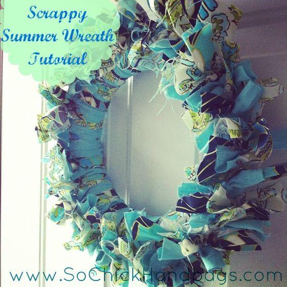 So Chick! The Blog: Scrappy Summer Wreath Tutorial