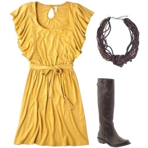 yellow and brownish/grey