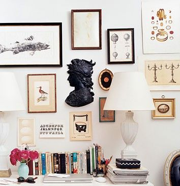 Like the mix match - some art with frames others without.