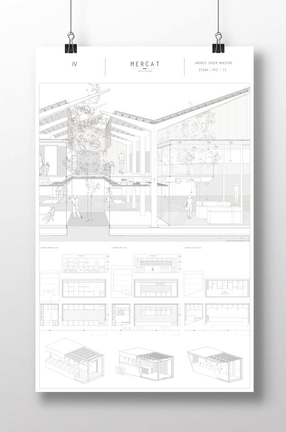 SECT_PERSP_Andrés Jover. Mercat Farinós. PFC | #PFC #Panel #Architecture…