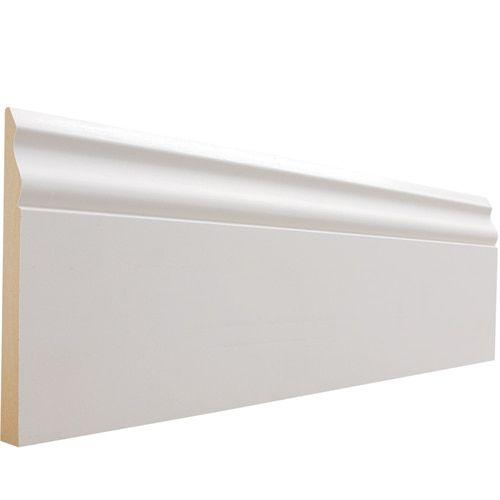 Evertrue 5 1 4 In X 12 Ft Primed Mdf Baseboard Moulding Lowes Com In 2020 Baseboard Moulding Baseboard Styles Baseboard Molding