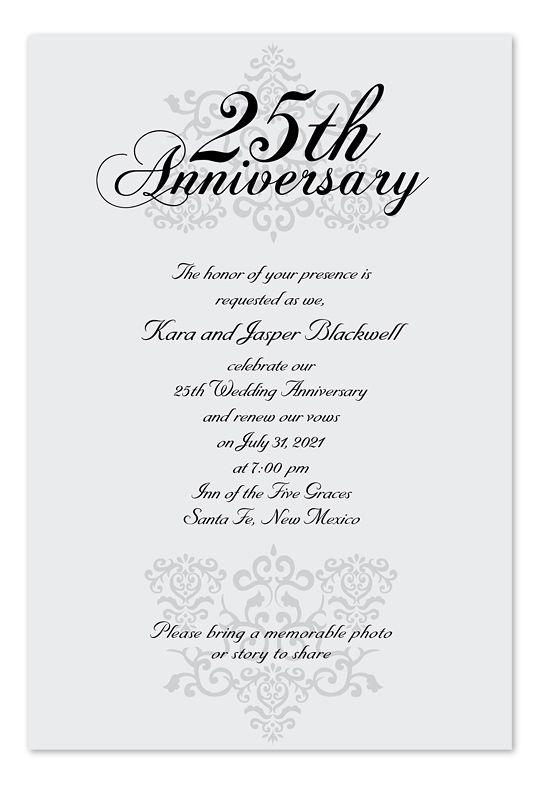 Anniversary Invitations Wedding