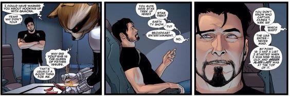 Tony Stark... Hooking up with Gamora? | Comics | Pinterest