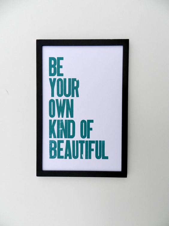 """happydeliveries   Be Your Own Kind of Beautiful Letterpress Print 11""""x17""""  Already purchased for Elle's nursery  **Frame not included**"""