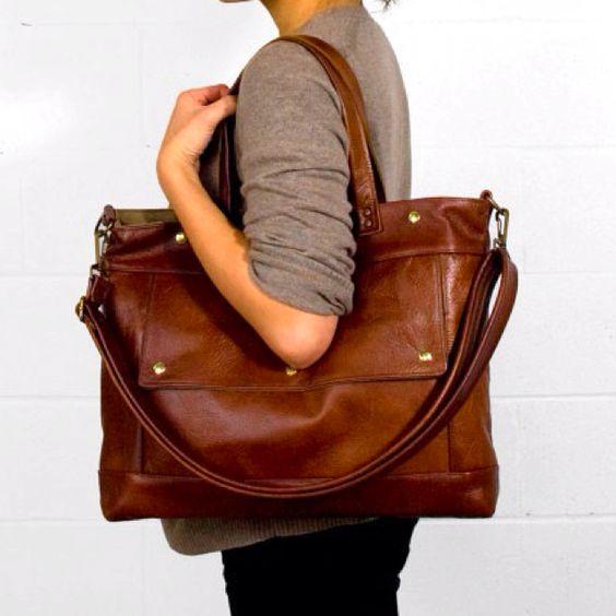 Archive bag - chestnut brown [etsy]