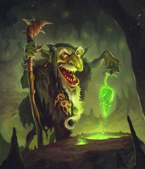 Cooool: Shaman Goblin by BorjaPindado Check more at http://zangmedia.com/shaman-goblin-by-borjapindado/