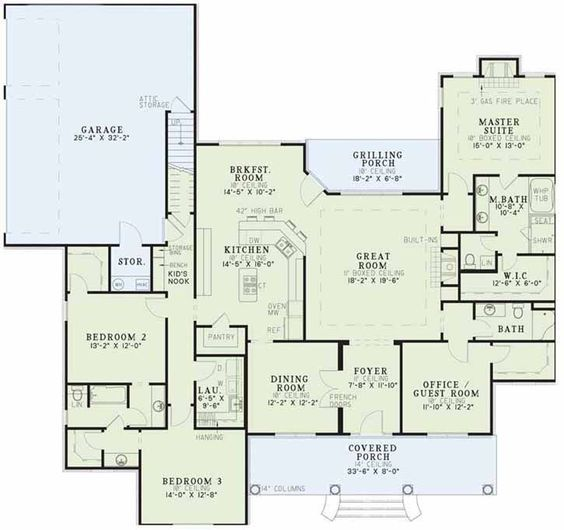 House plans squares and square feet on pinterest for Split level open floor plan