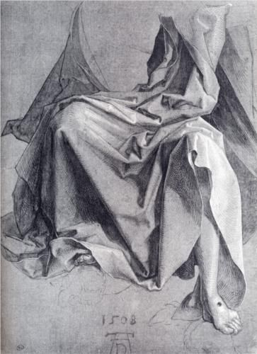 Study Of Drapery - Albrecht Durer