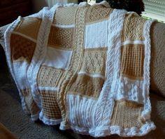 De Handwerktuin: Gebreide deken patronen