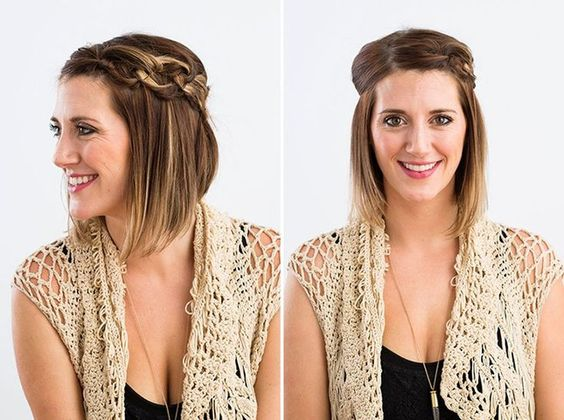 Cool Shorts Hair Dos And Easy Work Hairstyles On Pinterest Short Hairstyles Gunalazisus