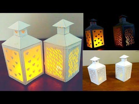 Paper Lantern Christmas Diy Free Lantern Template Youtube