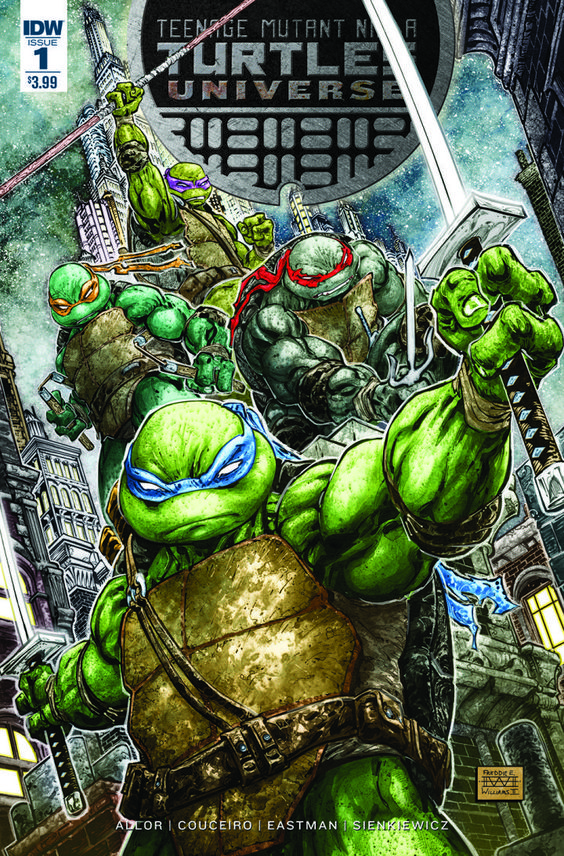 Second TMNT Comic Series Coming from IDW  The Teenage Mutant Ninja Turtles comic series from IDW Publishing is getting a sister series called Teenage Mutant Ninja Turtles Universe by writer Paul Allor and artist Damian Couceiro with backups by writers Tom Waltz and TMNT co-creator Kevin Eastman and artist Bill Sienkiewicz.  Check out the cover by artist Freddie Williams II.  This new series will tell stories focused on various supporting characters in the TMNT world. Characters named by…