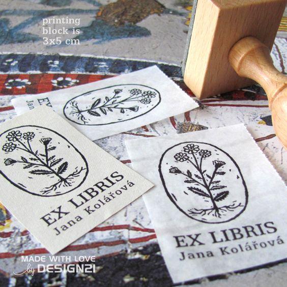 Seedling: personalised rubber stamp 3x5 cm  https://www.etsy.com/shop/lida21?ref=hdr_shop_menu