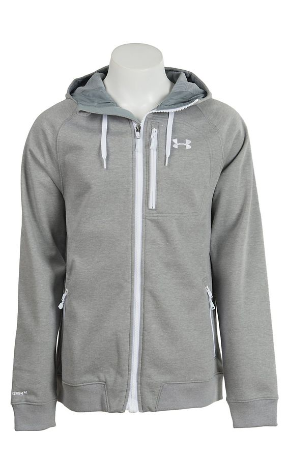 gray under armour jacket