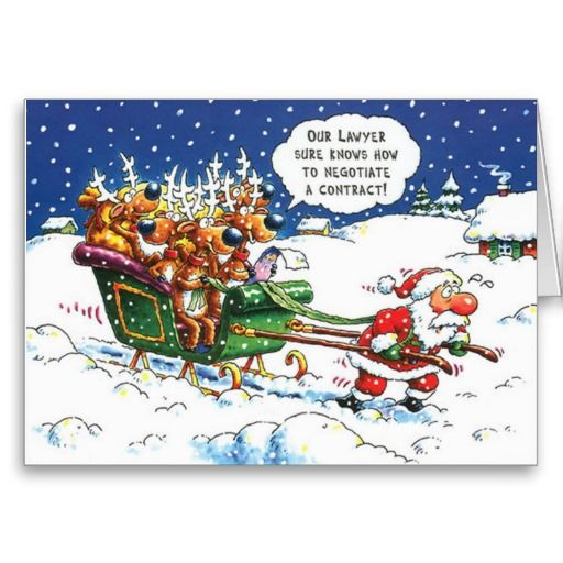 Lawyers Christmas Greeting Card  Funny, Cartoon and Merry christmas