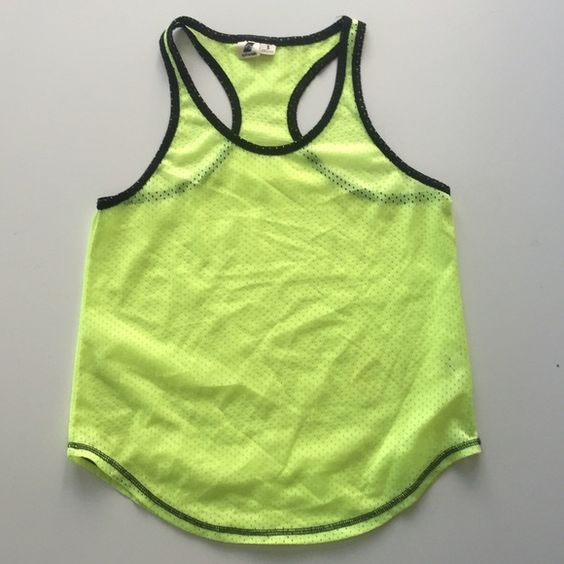 LIME NEON GREEN RACERBACK JERSEY TOP Super cool only worn once. Black trim. Not Unif just for exposure I purchased it at Patricia fields UNIF Tops