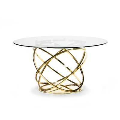 Lievo Orbit Dining Table Base Color Gold Size 56 L X 56 W X