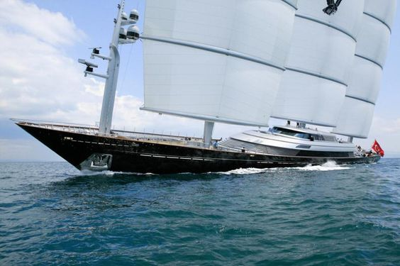 Maltese Falcon: Tercera Yate de vela más grande en el Mundo