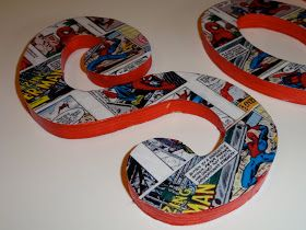 Comic Book Wall Letter Tutorial
