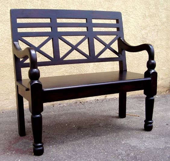 Spanish colonialbench front porch home sweet home for R furniture canoga park