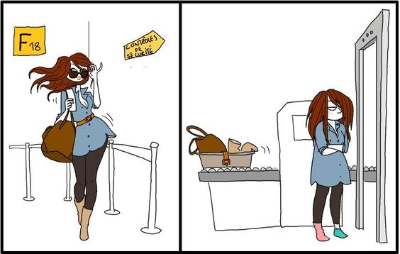 The problem with airport security. Hahahahaha