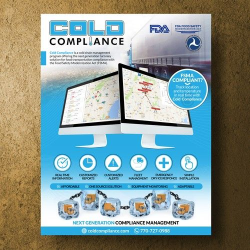 Design A Sales Flyer For A Trade Show Cold Compliance Offers A Hardware And Software Solution To Transportation Companies Wanti Sale Flyer Flyer Printing Flyer
