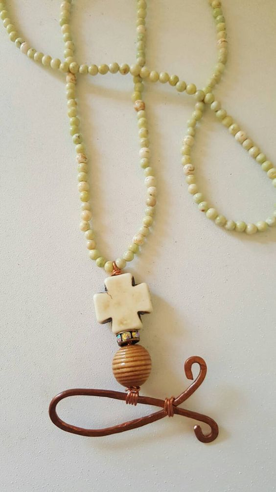 Christian fish symbol necklace by DesignsByEstherM on Etsy