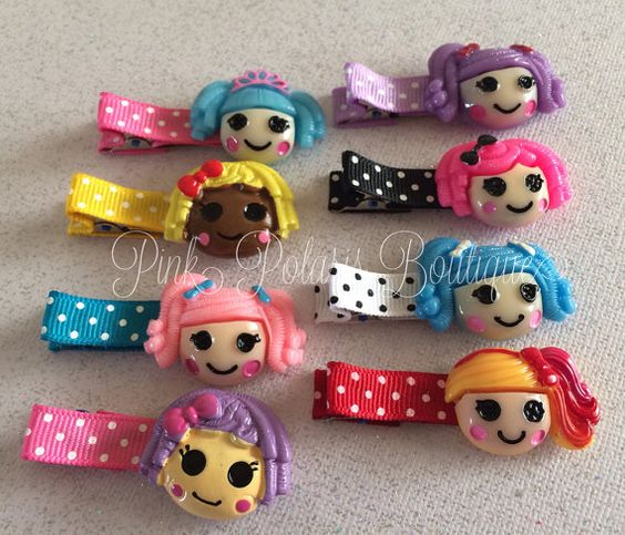 Lalaloopsy Clippies SET of 8 on Etsy, $12.50