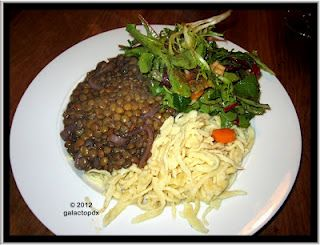 Linsen & Spaetzle (lentils and saetzle) traditional Swabian - southern German - dish