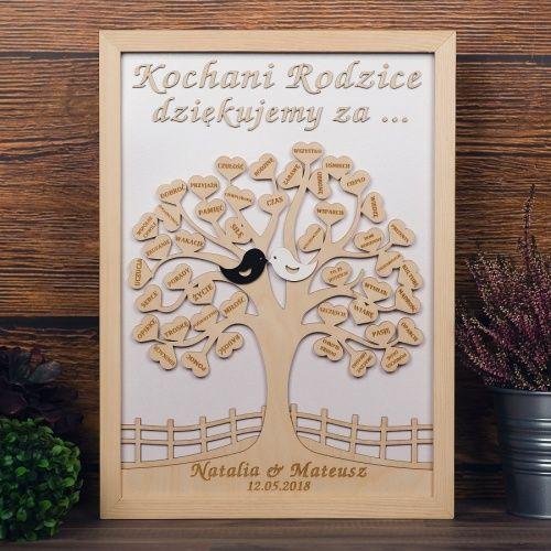 Podziekowania Dla Rodzicow Drzewo 3d Home Decor Frame Decor