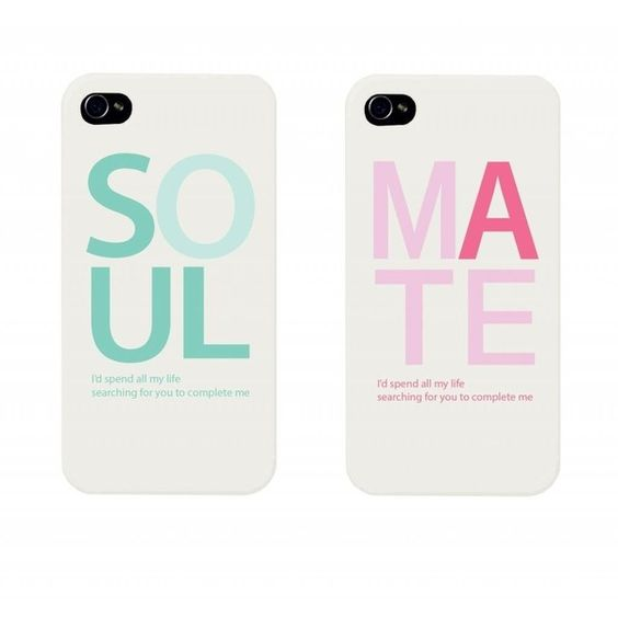SOUL MATE Couples Matching Cell Phone Cases for iphone 4, iphone 5,... (21 AUD) ❤ liked on Polyvore featuring accessories, tech accessories, phone cases, phone, couples, electronics, iphone cases, galaxy smartphone, iphone case and iphone cell phone cases