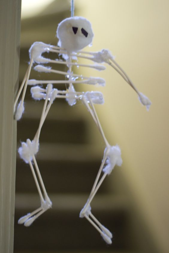 swab skeletons as seen in family fun magazinefun fall craft cute to make in the skeletal system - Family Fun Magazine Halloween Crafts