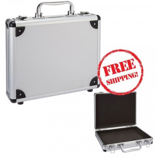 Aluminum-Hard-Case-Silver-Paperwork-Tools-Tablets-Business-11-x-8-8-x-2-5-Inches