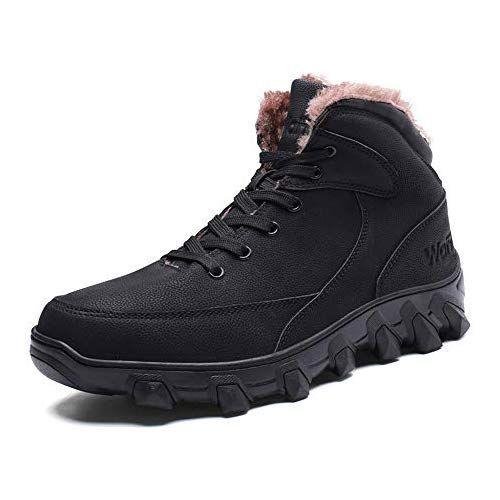 PAMRAY Bottes Homme Chaussures d'hiver Neige Bottines Chaudes ...
