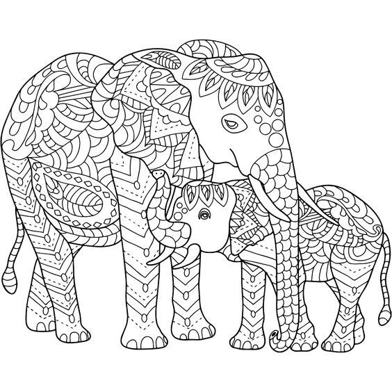 Pin By Kelley School On Coloring Sheets Elephant Coloring Page