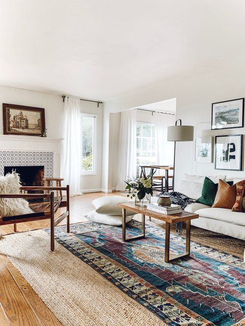 Absolutely Loving This Living Area Design Ideas Check Out The Comfy Sofa Anchored But The H Rugs In Living Room Layered Rugs Living Room Living Room Area Rugs