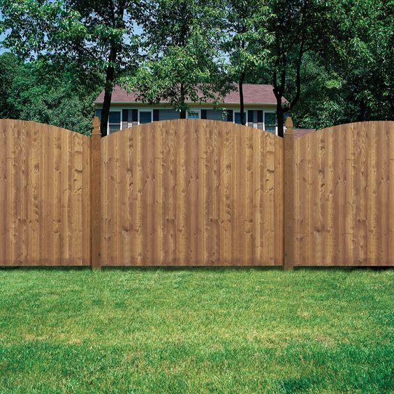 Shop Barrette 8 Ft X 6 Ft Spruce Dog Ear Wood Fence
