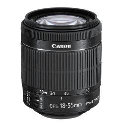 18-55mm pentru clipurile video,  focalizează fără un zgomot pronunțat.
