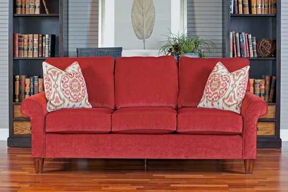Flexsteel Westside Red Sofa Furniture Couch