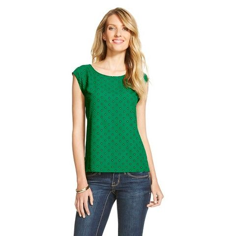 Women's Crepe Shell Blouse - Merona™ - Green Orchard