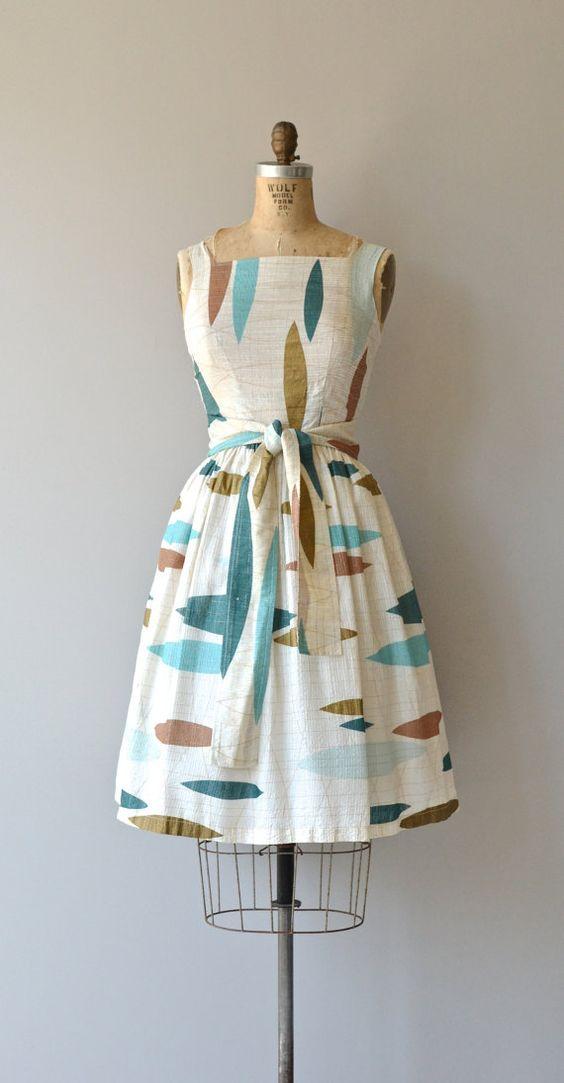 Atomic Age dress 1950s dress vintage 50s dress by DearGolden