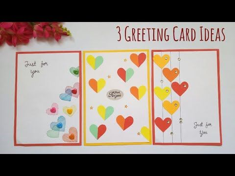 3 Beautiful Greeting Card Ideas Easy Handmade Greeting Card