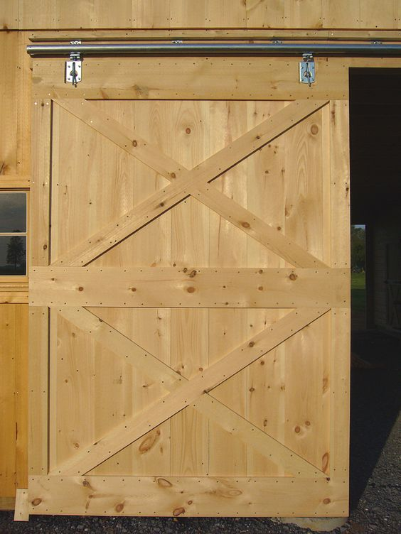 Free sliding barn door plans from diy for Interior door construction