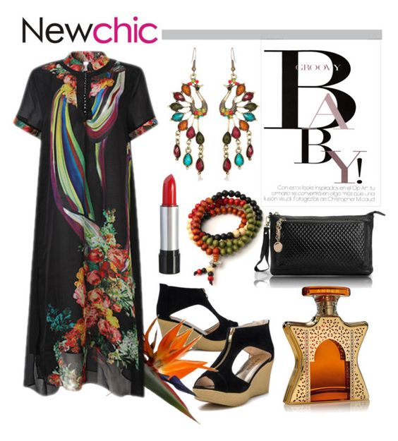 """""""Love NewChic"""" by pixidreams ❤ liked on Polyvore featuring November, Bond No. 9 and plus size dresses"""