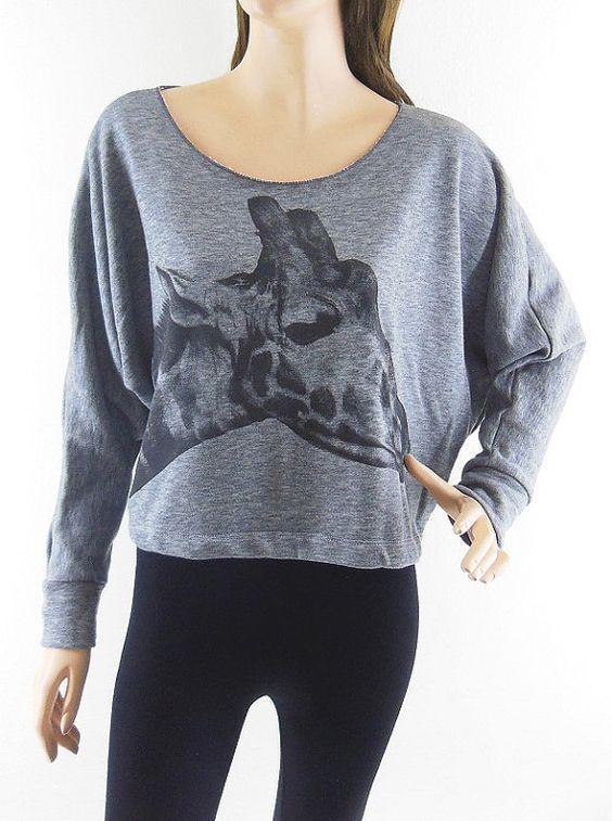 Giraffe TShirt Giraffe sweater Giraffe Shirt Animal by sinclothing, $19.99