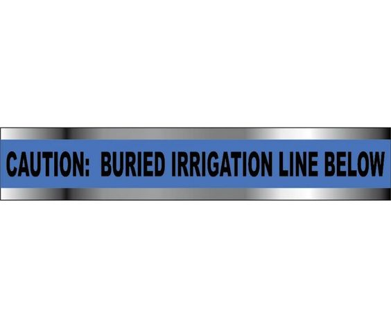 "DETECTABLE UNDERGROUND Tape, Caution IRRIGATION LINE BELOW, 2""X1000'"