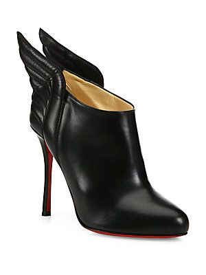 Christian Louboutin Mercura Wing Leather Booties
