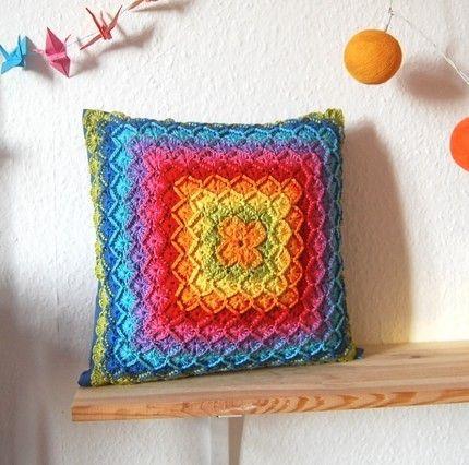 Free Crochet Pillow Patterns For Beginners : CROCHET PILLOW COVER Crochet For Beginners NeedleCraft ...