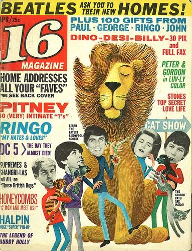 The appealing cover designs of 16 Magazine from the 1960s (posted on Boing Boing, March 24, 2012)