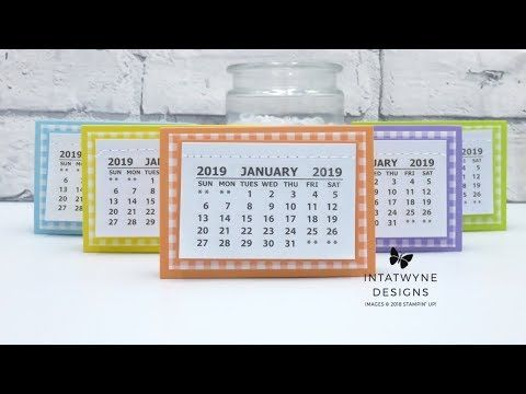 Quick And Easy Project Learn How To Make These Mini Desktop Calendars Read More Mini Desk Calendar Mini Calendars Calendar